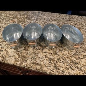 Four Galvanized Metal containers